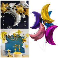 36'' Moon Shaped Foil Big Balloon Wedding Birthday Anniversary Party Home Decor