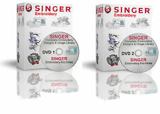 139,900 Singer XL Machines XXX Format EMBROIDERY Designs - 2 DVDs
