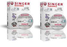 139,900 Singer XL Machines XXX Format EMBROIDERY Designs - 2 DVDs