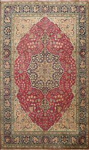 Floral Semi Antique Tebriz Handmade Area Rug Traditional Oriental Carpet 8'x11'