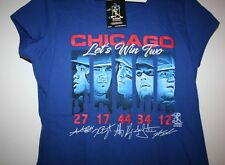 """MLB CHICAGO CUBS 2017 Royal Blue Girls T-shirt Youth XL """"LET'S WIN TWO""""  NWT"""