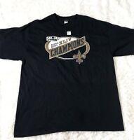 "Reebok NFL""New Orleans Saints Super Bowl XLIV Champions T Shirt  large"