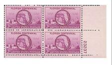 USA0927_PLB Centennial State of Florida quartet with number.MNH USA