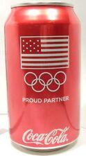NEW FULL 12oz Can Coke Coca-Cola 2014 Sochi Russia Winter Olympics USA Flag