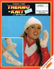~ Vintage 1970's Knitting Pattern For Lady's Hat, Mitts & Bedsocks ~