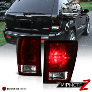 [DARK CHERRY RED] For 2007-2010 Jeep Grand Cherokee Rear Tail Light Brake Lamp