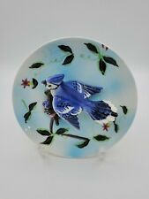 Vintage Napco 3D Bird Wall Plate Blue Jay B1770~ 5'W