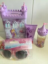 DISNEY RAPUNZEL Perfume & Shower Gel Money Box Gift Set & Princess Sunglasses