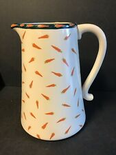 Blue Sky Clayworks 18 Carrots Pitcher by Laura Kelly Carrot Toss 8.25 Inches