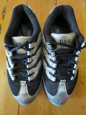 Bloch Girls Dance Sneaker Size US 5.5 FR 35 Silver Preloved excellent condition