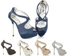Stiletto Satin Sandals Heels for Women