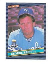 GEORGE BRETT   1986 LEAF #42 KANSAS CITY ROYALS     FREE COMBINED S/H