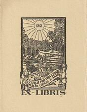 Ex libris Art Deco Exlibris by CANDIDO ALFREDO / Spain