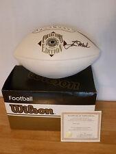 Tom Mack  Hand Signed Wilson HOF Football NFL Rams