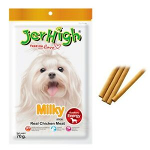 Jerhigh Dog Stick Pet Food Real Chicken Flavor Protein Snack Healthy Energy 70g