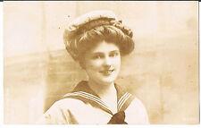 ARISTOPHOT POSTCARD PATRIOTIC YOUNG WOMAN WW1 HMS MARS RP