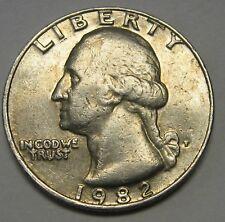 1982-P Washington Clad Quarter in Average Circulated Condition    DUTCH AUCTION