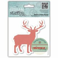"""4x4"""" Christmas in the Country - Stag Papermania Urban Cling Rubber Stamp Craft"""