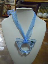 Collana Farfalla Azzura della YODIT Swarovski turchese - blue butterfly necklace