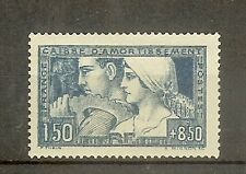 """FRANCE STAMP TIMBRE N° 252 """" CAISSE AMORTISSEMENT LE TRAVAIL 1928 """" NEUF xx TTB"""