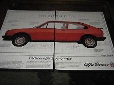 Alfa Romeo TiS advert also Pioneer Radio Cassette advert on back