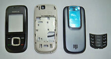 Full Black faceplate cover fascia facia housing case for Nokia 2680S 2680 Slide