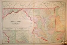 1907 Maryland & Delaware 2-page Color Map*