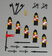 LEGO Minifigures Lot 7 Lion Knights Army Castle Guys Swords Lego Minifig People