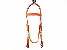 RAWHIDE WESTERN COWHIDE LEATHER COWBOY RANCH WORKING BRIDLE HEADSTALL TACK