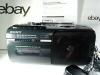 Sony CFM-10 FM AM Radio Tuner Cassette Tape Recorder Player Boombox Portable