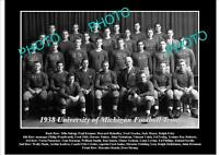 OLD 8x6 HISTORIC PHOTO OF UNIVERSITY OF MICHIGAN FOOTBALL TEAM 1938