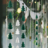 EE_ Mini 3D Christmas Tree Paper Hanging Garland Ornament Wedding Party Decor Ex