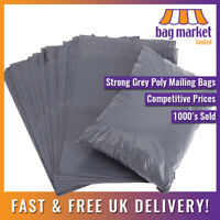 """50 x Grey 10"""" x 14"""" Strong Mailing Bags 