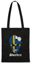 Sweden Football Skull I Shopper Shopping Bag swedish Soccer Flag World