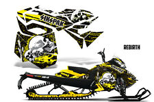 SIKSPAK Sled Wrap Ski Doo Rev XM Snowmobile Graphics Kit 2013-2016 REBIRTH YLLW
