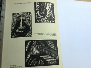 3 small 1930s Woodcut prints including male nude by Cecil Buller
