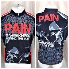 "New Sportswear 83 ""Pain Is Weakness Leaving The Body"" (XL) Zip Up Cycling Jersey"