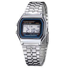 LED Electrónico Digital Acero Inoxidable Hombre Mujer Niños Relojes Informal De