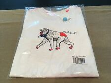 NEW Mini Boden Boys Size 8-9 Years White Short Sleeve T-Shirt Baboon Monkey