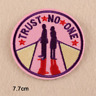 Trust No One - Iron on Embroidery Cloth Patch Sew on Badge - Clothes Hat