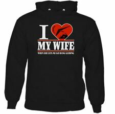 I Heart My Wife Hang Gliding Mens Funny Hoodie Love Glider Paraglider
