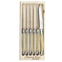 Laguiole 6 Piece Table Knife Set by Jean Neron - Choose your colour. Cutlery
