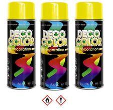 3 Stück 400ml RAL 1023 Lackspray Sprühlack Lack Farbe gelb  10001