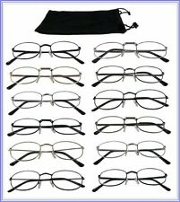 Mr.Reading Glasses [+2.25] 12 Metal Frame Wholesale Unisex Readers 12 Pair 2.25