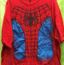 Marvel Comics Spiderman Upper Torso Costume  - T Shirt 2XL - Distressed