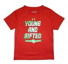 Under Armour Boys Red Young And Gifted Short Sleeve Dry Fit Top Size 6