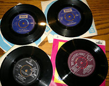 "Various Artists-Job lot of 4- Decca/HMV/Columbia Label 45 Rpm Single Records 7"""