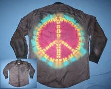 Tie Dye Dress Shirt 16 1/2 35 Mullet: business front party back Gray LS