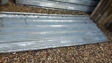 Corrugated metal sheets x10.(8ftx3ft6)