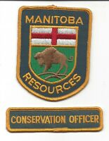 "Manitoba Resource Officer Bison Officer Cloth Shoulder Patch 3"" x 4"" CANADA NM+"